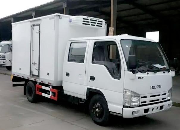 五十铃双排冷藏车-厢长3.15米