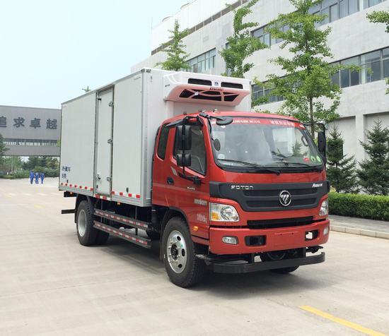 福田排半冷藏车-厢长5.1米