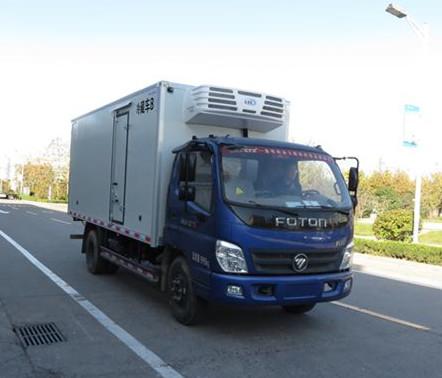 国五福田奥铃单排冷藏车-厢长5.1米