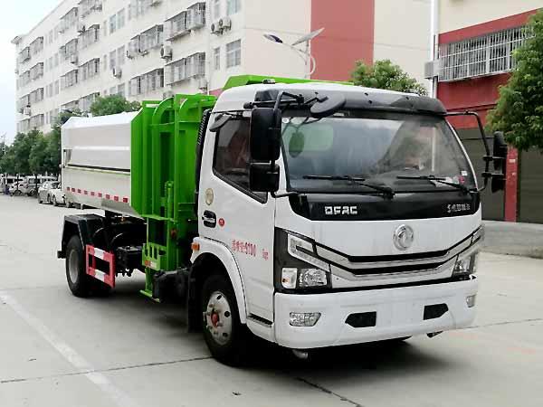 8方挂桶垃圾车|国六东风大多利卡