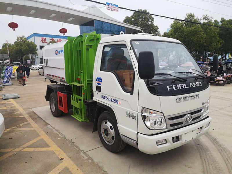 5方挂桶垃圾车|国六福田小卡3
